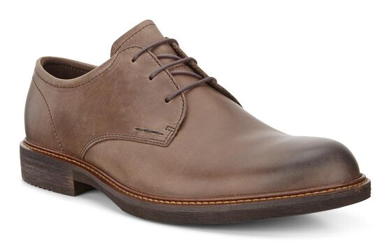 ECCO Kenton Plain Toe Tie (DARK CLAY)