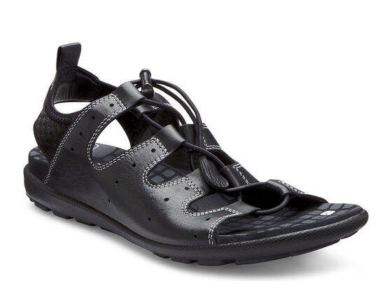 ECCO Jab Toggle Sandal (BLACK/BLACK)