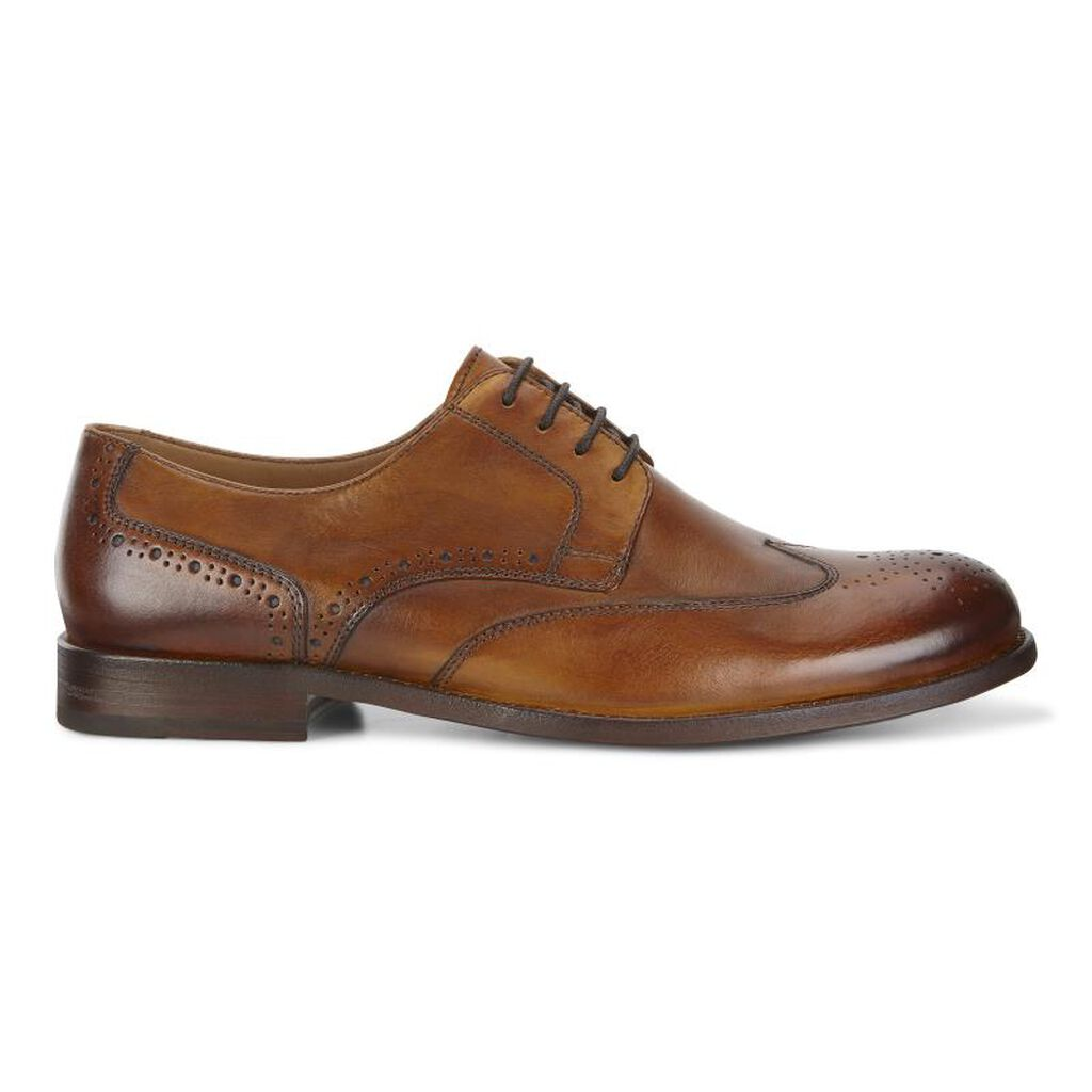 Ecco London Wing Tip Tieecco Tie In Amber 01112