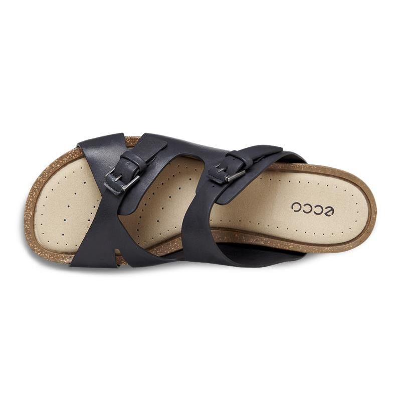 Ecco Dagmar Buckle Slide Ecco- Black sandals