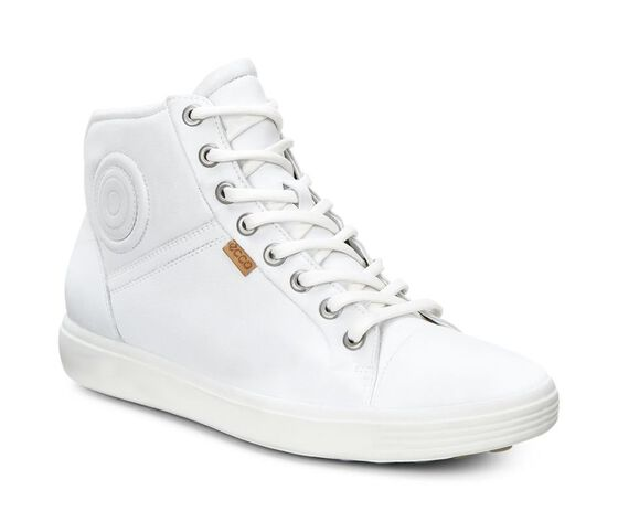 ECCO Womens Soft 7 High TopECCO Womens Soft 7 High Top in WHITE (01007)