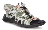 ECCO Soft 5 Toggle Sandal (WHITE/FLOWER PRINT)