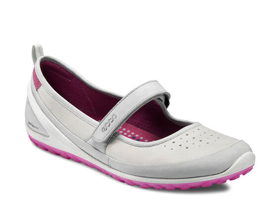 ECCO Womens BIOM 1.2 Mary Jane (CONCRETE/SHADOW WHITE)