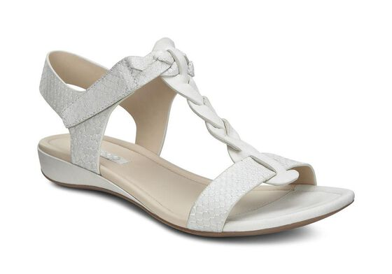 ECCO Bouillon Knot Sandal II (WHITE/WHITE-SILVER METALLIC)