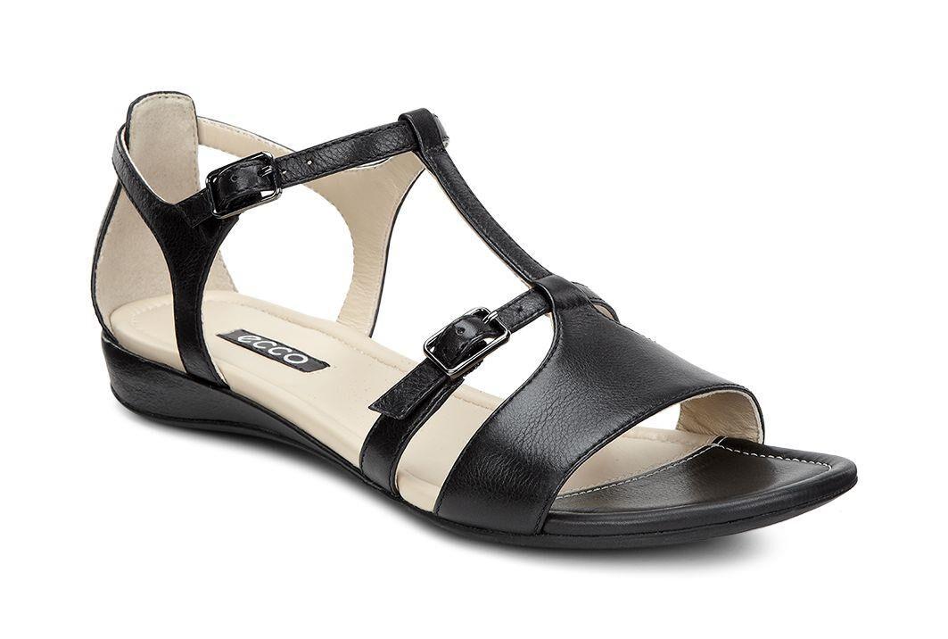 Womens Sandals ECCO Boullion T-Strap Sandal Black