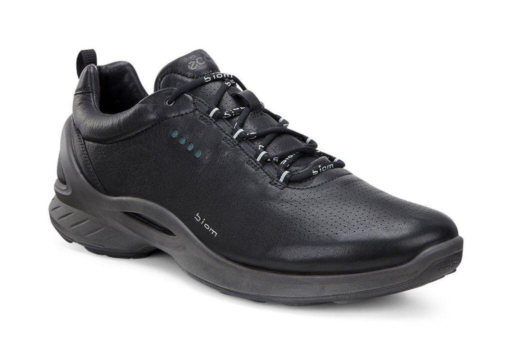 All Black Leather Walking Shoe Women