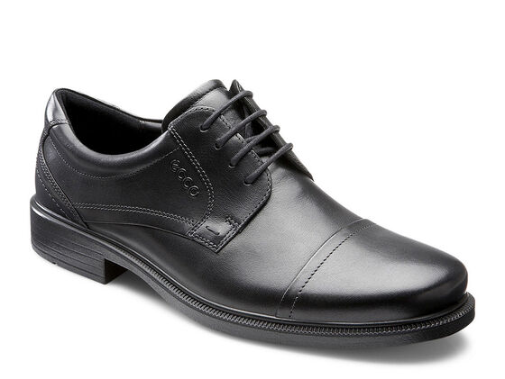 ECCO Dublin Cap Toe Tie (BLACK)