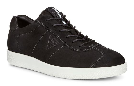 ECCO Mens Soft 1 SneakerECCO Mens Soft 1 Sneaker BLACK (02001)