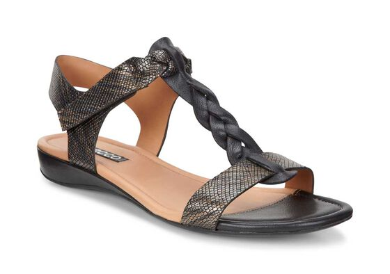 ECCO Bouillon Knot Sandal II (BLACK/BLACK-MULTI METALLIC)