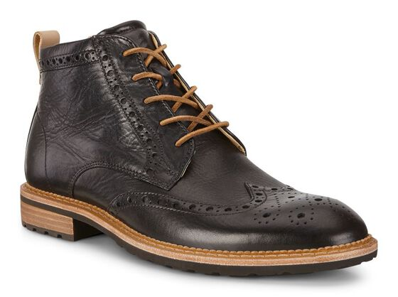 ECCO Vitrus I Brogue Boot (BLACK)