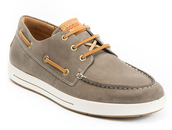 ECCO Eisner Boat Shoe (MOON ROCK/LION)