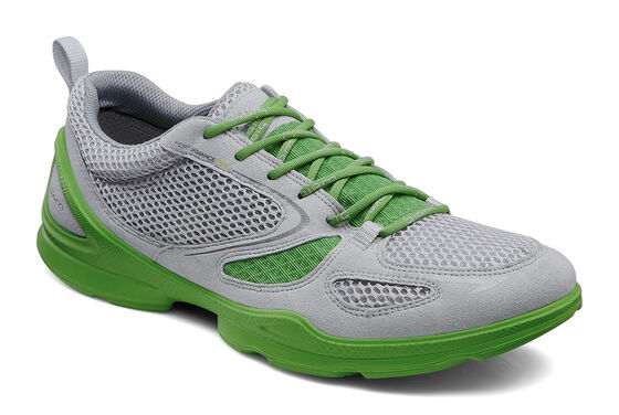 ECCO Mens BIOM EVO Race Lite (CONCRETE/SILVER METALLIC/MEADOW)