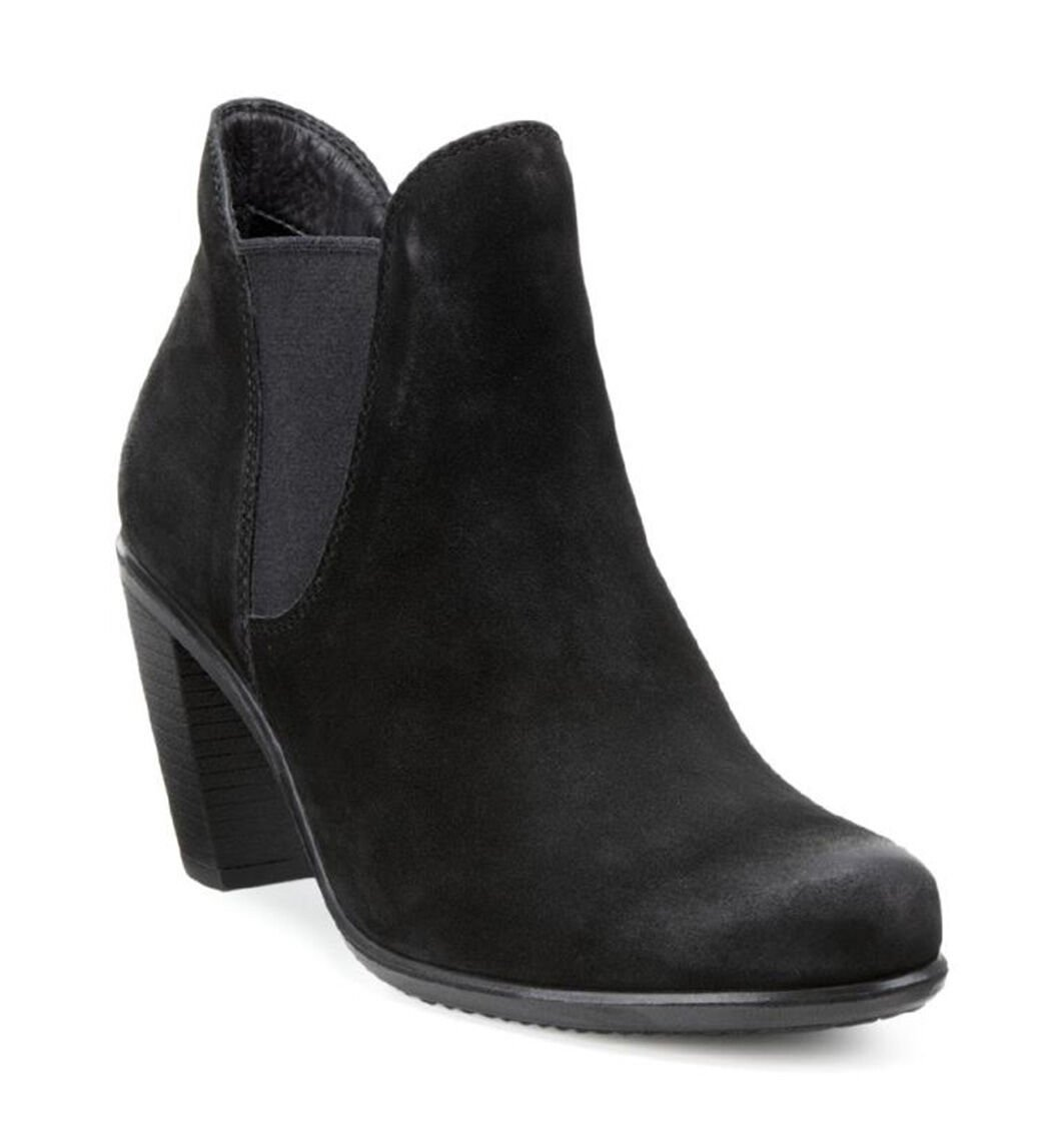 Ecco Womens Black Boots Touch 75 Chelsea Bootie
