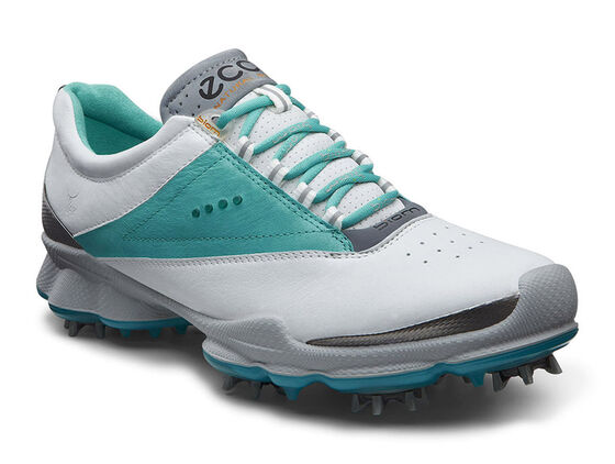 ECCO Womens BIOM Golf Lace (WHITE/TURQUOISE)