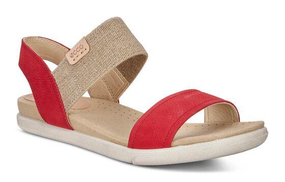 ECCO Damara Ankle Sandal (CHILI RED/POWDER)