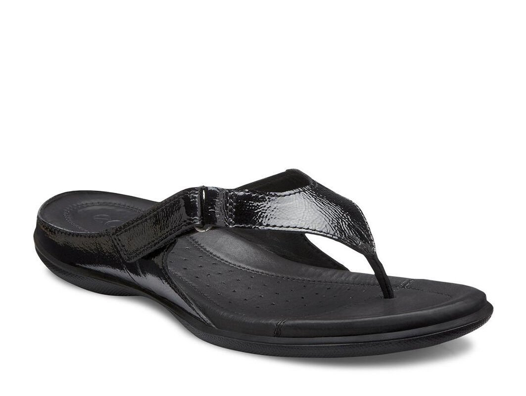 11acf33141ee ecco black leather sandals for sale   OFF76% Discounts