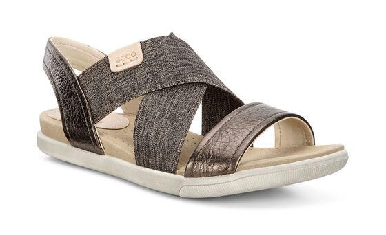 ECCO Damara 2 Strap Sandal (LICORICE/POWDER)