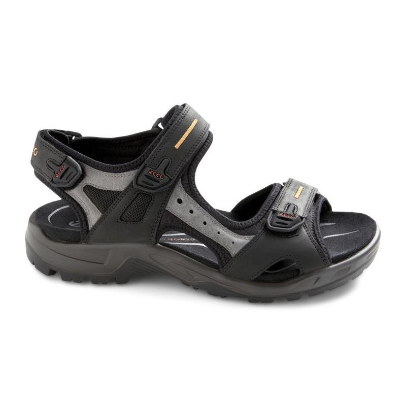 ... ECCO Mens Yucatan SandalECCO Mens Yucatan Sandal BLACK/MOLE/BLACK  (50034) ...