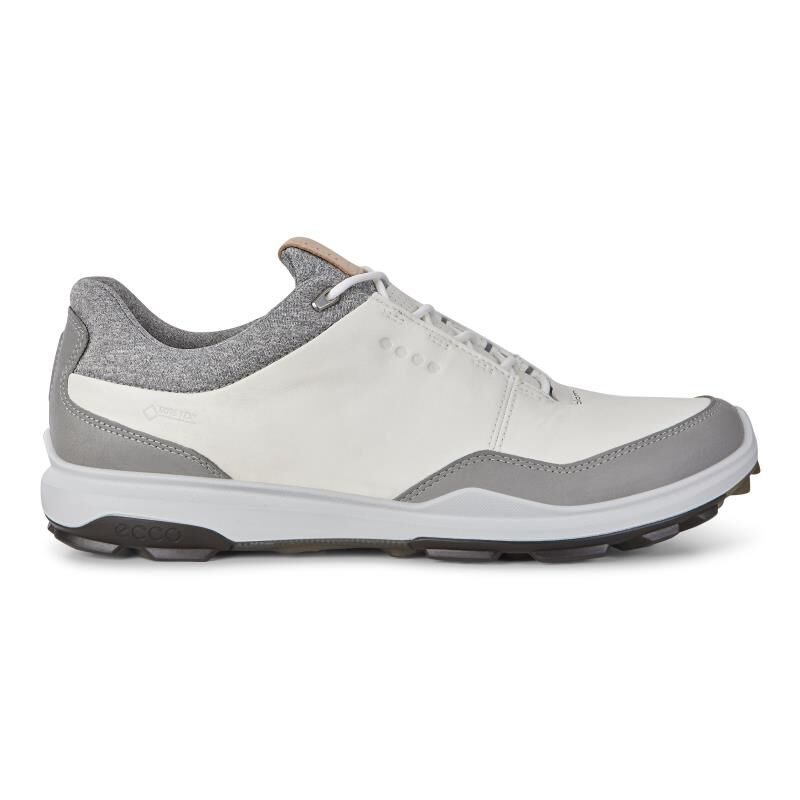 ecco BIOM HYBRID 3 - Golf shoes - white/black hlOEUKB