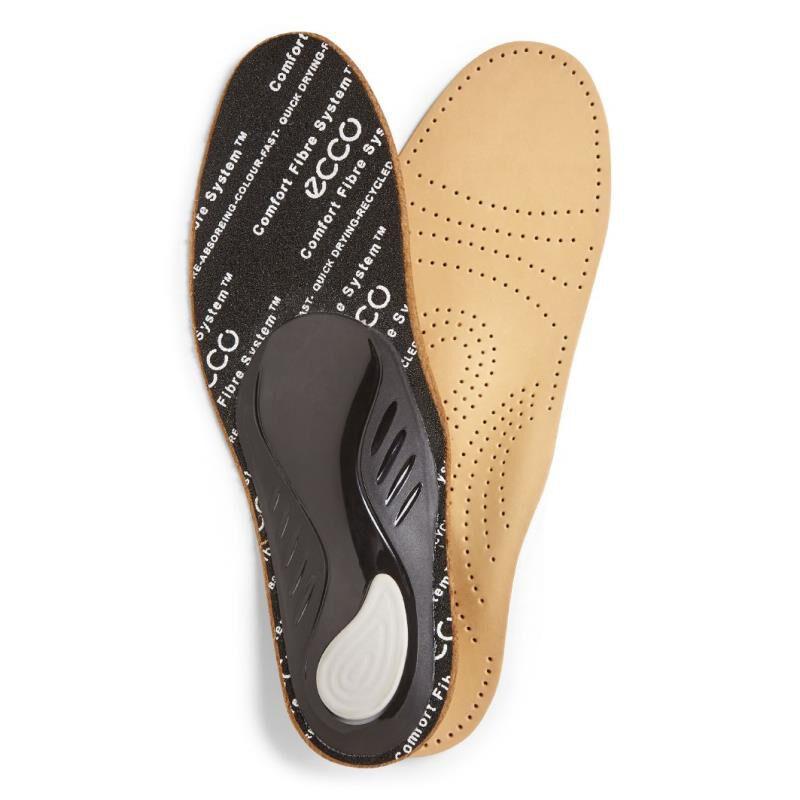 Mens Insoles ECCO Premium Leather Footbed Lion