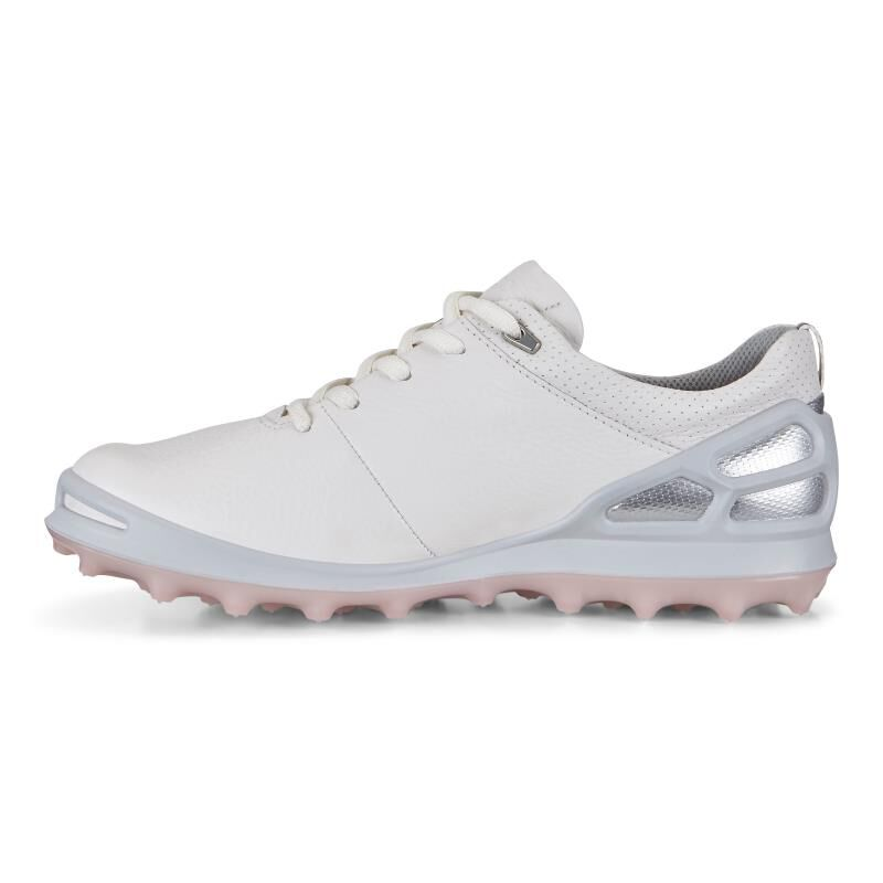 Ecco Golf Cage Pro White/Silver Pink 42 Womens uDeCdL23