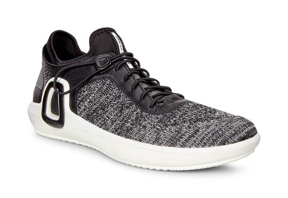 ECCO Mens Intrinsic 3 Textile (BLACK-CONCRETE/BLACK)