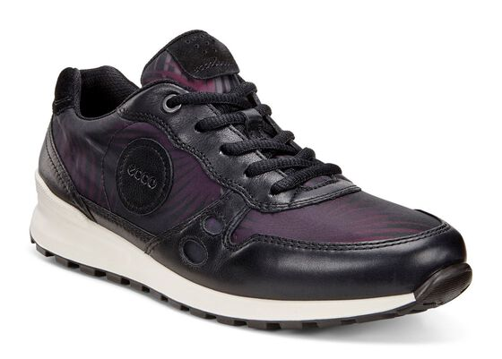 ECCO Womens CS14 Retro Sneaker (BLACK/BLACK PALM PRINT/BLACK)