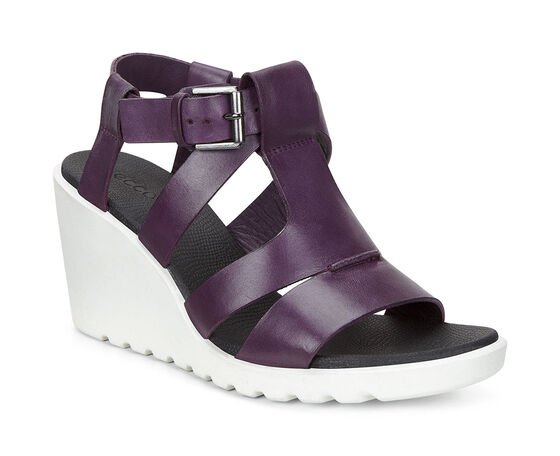 ECCO Freja 75mm Wedge Sandal (MAUVE)