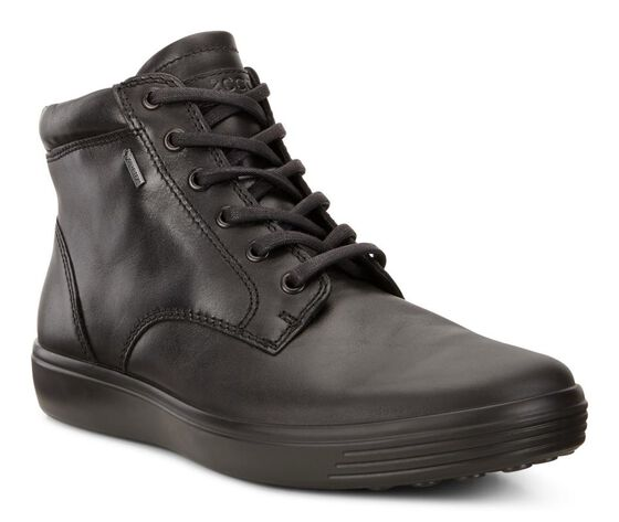 ECCO Mens Soft 7 High GTX (BLACK)