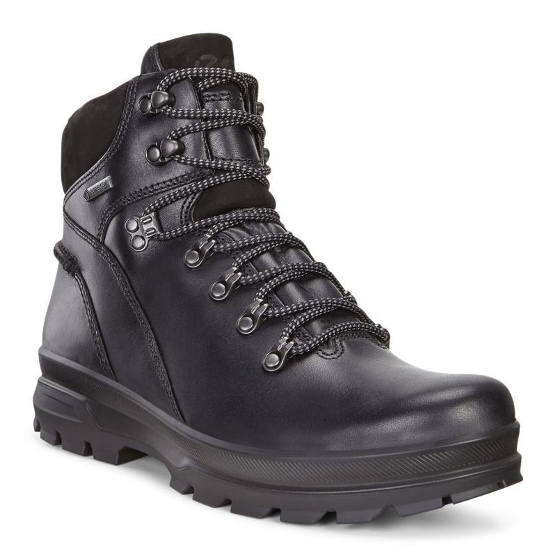 ecco mens black boots