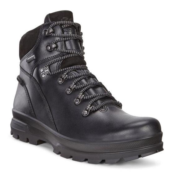 ECCO Mens Rugged Track GTX Hi (BLACK/BLACK)
