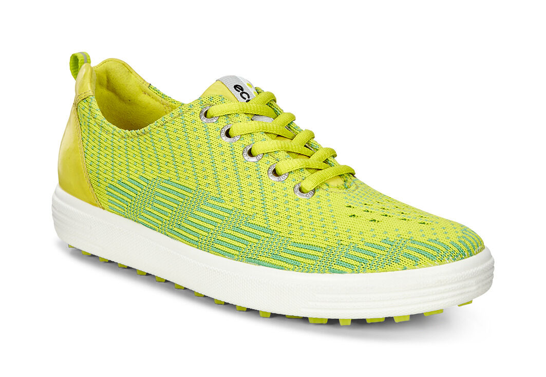Ecco Golf Casual Hybrid Knit Womens Lime Punch/Toucan Neon/Sulphur W300398BV Shoes