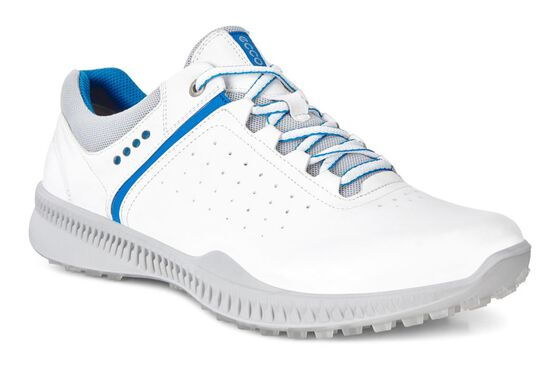 ECCO Mens Golf S-Drive Perf (WHITE/CONCRETE)