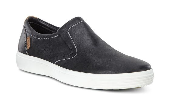 ECCO Mens Soft 7 Slip On (BLACK)
