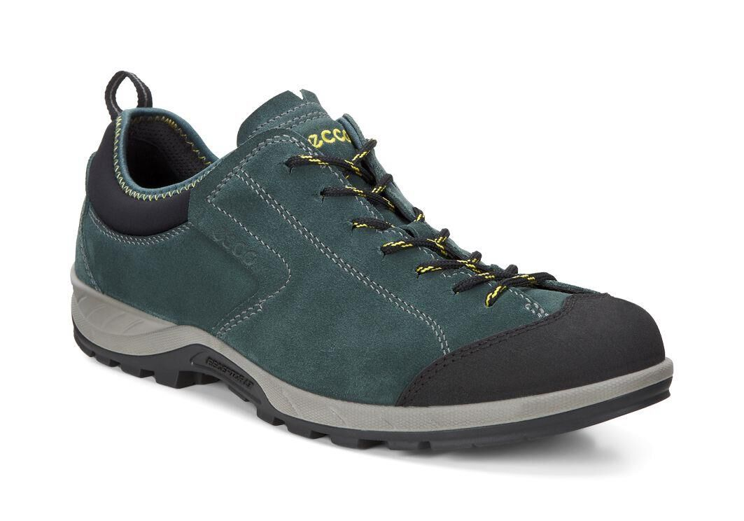Fashion Style Mens Sneakers - Ecco Yura Moc Toe Black/Dioptase