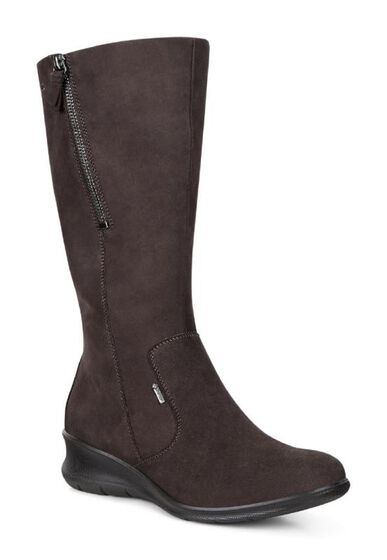 ECCO Babett Wedge Tall Boot (MOCHA)