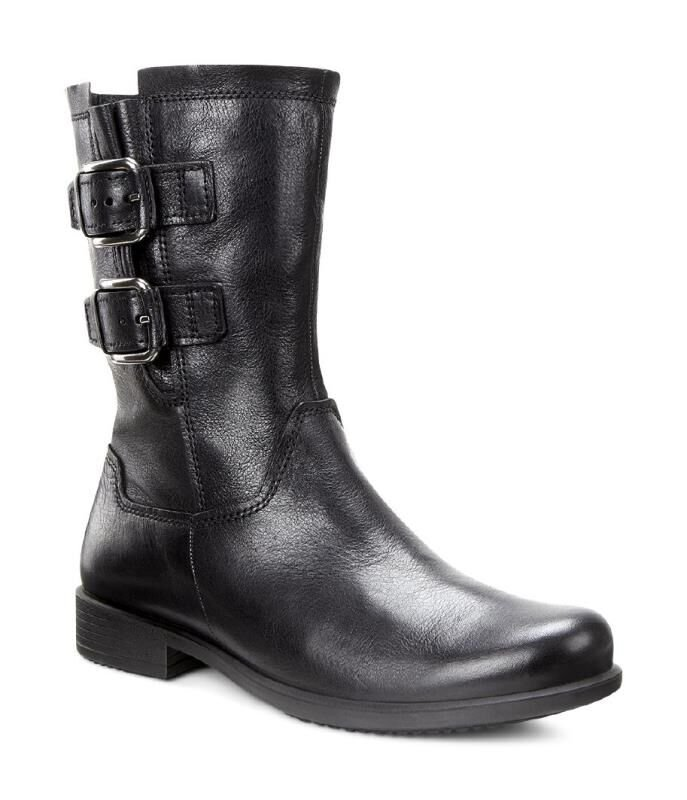 Womens Boots ECCO Touch 25 Buckle Mid Black