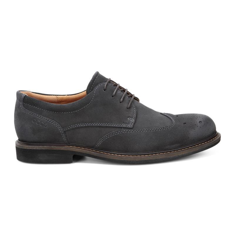 Mens Shoes ECCO Findlay Brogue Tie Moonless