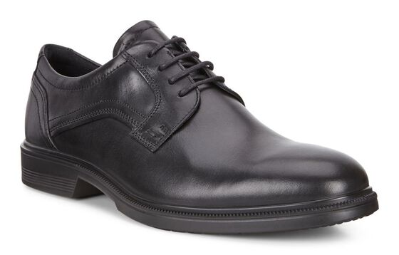 ECCO Lisbon Plain Toe Tie (BLACK)