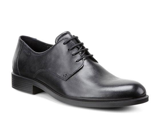ECCO Harold Plain Toe Tie (BLACK)