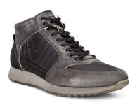 ECCO Mens Sneak High (BLACK/BLACK)
