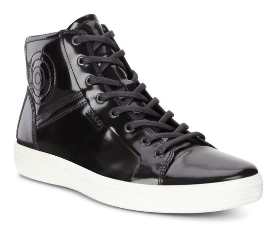 ECCO Mens Soft 7 Luxe High Top (BLACK)