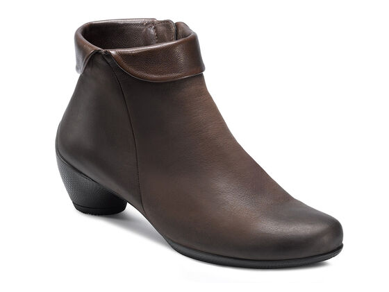 ECCO Sculptured Zip Bootie (COFFEE/COFFEE)