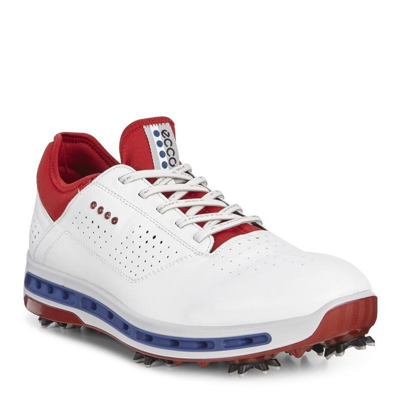 ECCO Mens Golf Cool 18 GTXECCO Mens Golf Cool 18 GTX WHITE/TOMATO (50431 ...