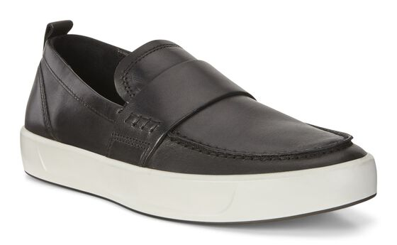 ECCO Mens Soft 8 LoaferECCO Mens Soft 8 Loafer BLACK (01001)