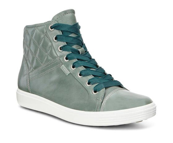 ECCO Soft 7 Quilted High Top (FROSTY GREEN/FROSTY GREEN)