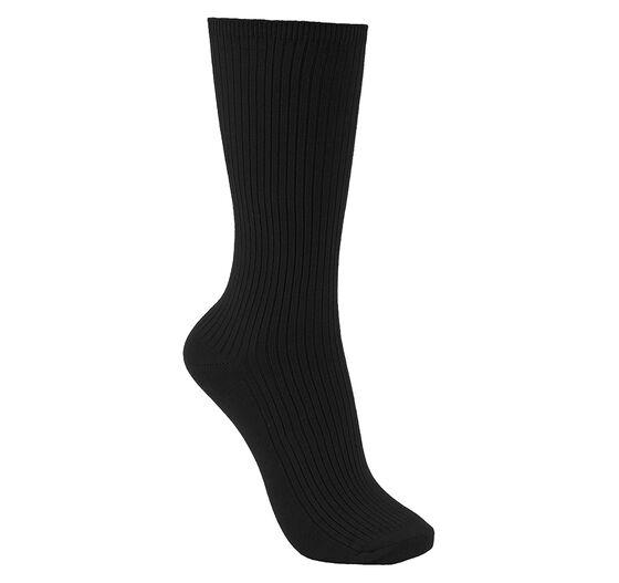ECCO Womens Ribbed Sock 2-PK (BLACK/BLACK)