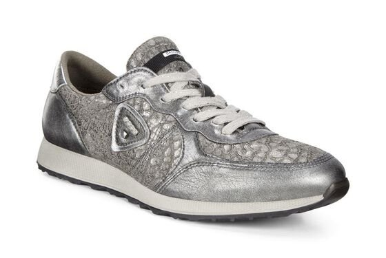 ECCO Womens Sneak (ALUSILVER/WARM GREY/ALUSILVER)