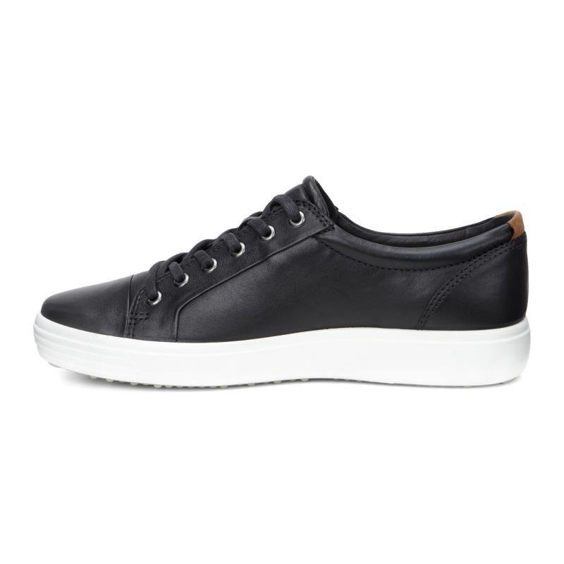 ECCO Mens Soft 7 Sneaker 430004-01001 BLACK