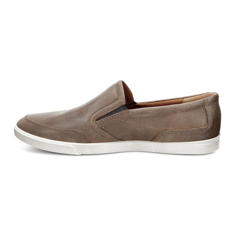 Ecco Collin Casual Slip On Mens Brown Sneakers